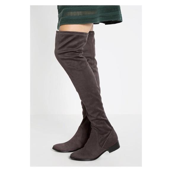 685aa946994 ALDO Shoes - ALDO ELINNA Over The Knee Boots Gray Side Zip
